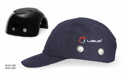 Gorra con casquete plástico . Color Azul