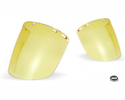 Protector Facial Burbuja amarillo