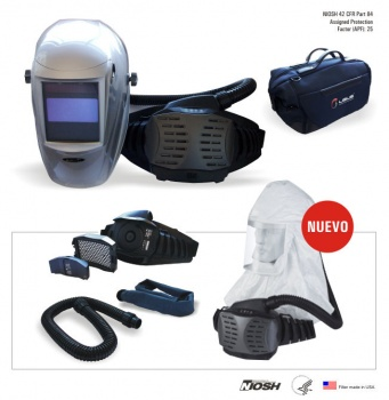 Respirardor PAPR AIR WING c/ masc. sold fotosen
