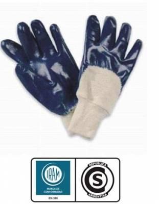 Guante de Nitrilo Azul Puño ventilado