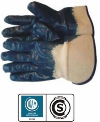 Guante de Nitrilo Azul Puño de seguridad ventilado