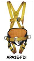Arnés paracaidista con 3 argollas y soporte lumbar (S/M/L)
